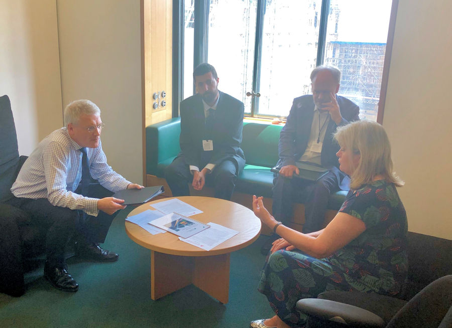 Abbey Line campaigners meet with Minister Andrew Jones MP