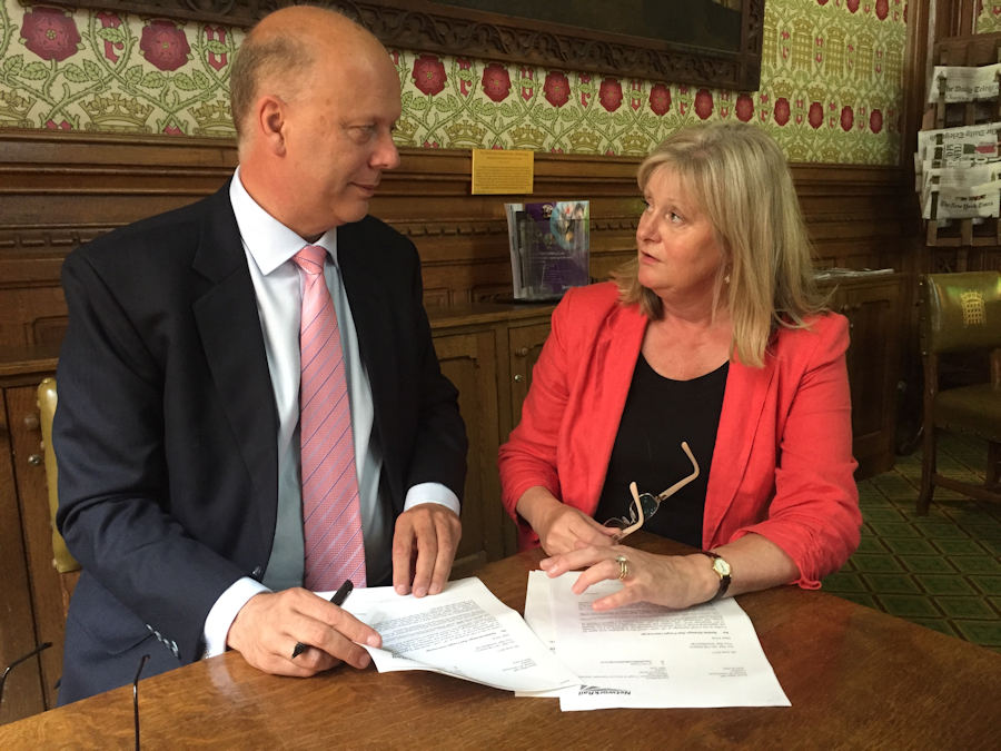 Anne Main and Chris Grayling, Secretary of State for Transport