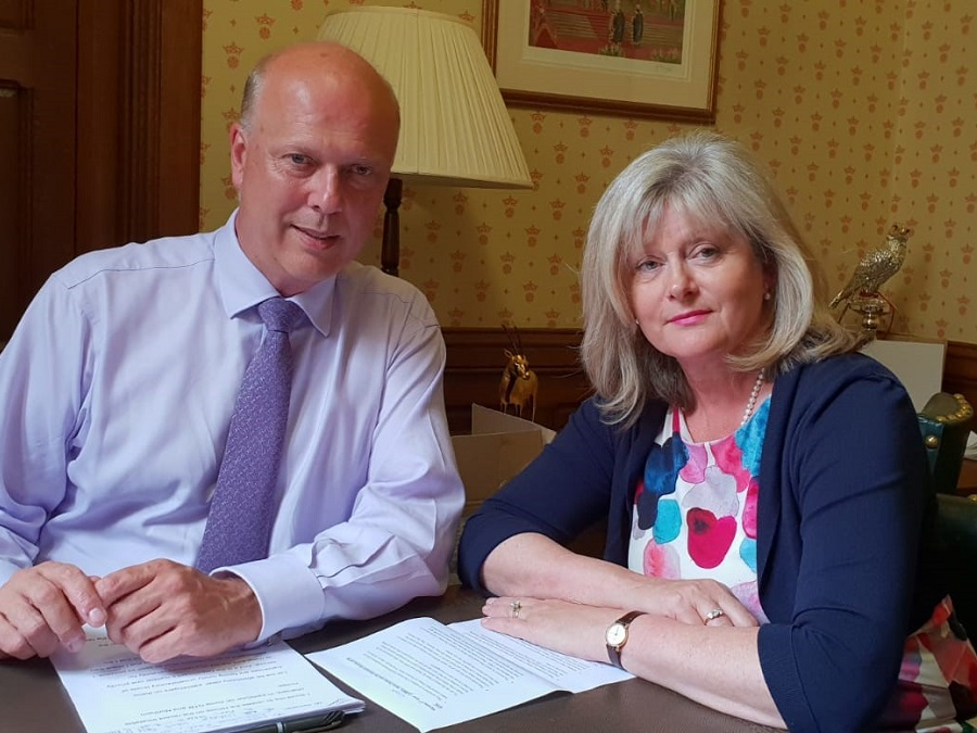 Anne Main meeting with Chris Grayling