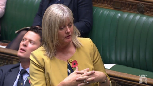 Anne Main MP speaking in the House of Commons