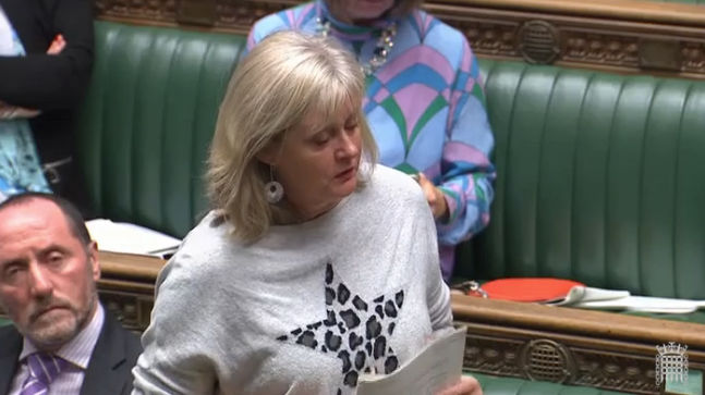 Anne Main MP speaking in the House of Commons, October 2019