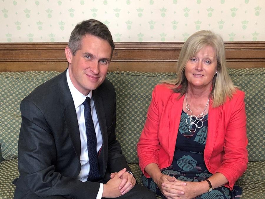 Anne Main MP with Education Secretary Gavin Williamson