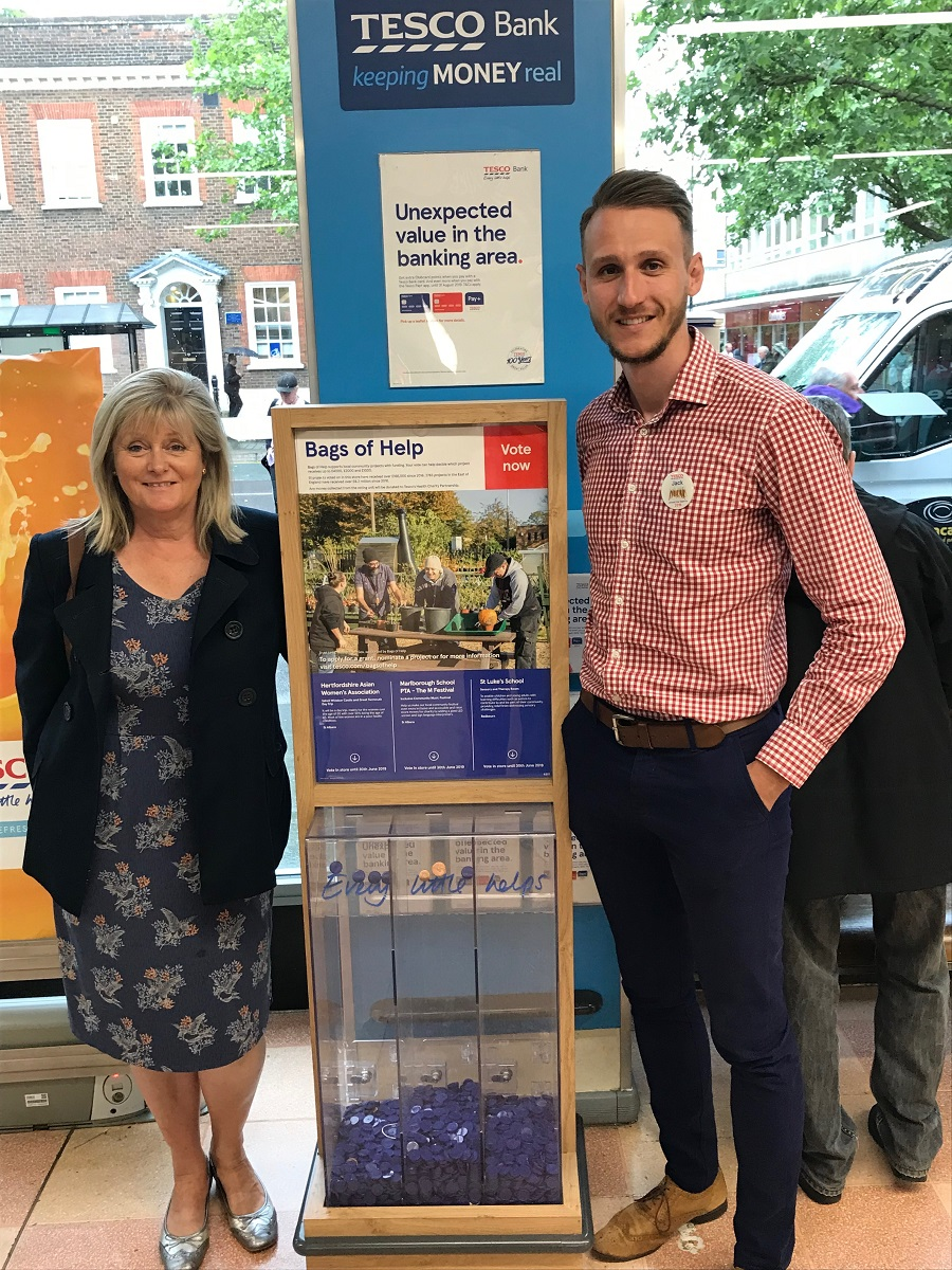 Anne Main MP urges charities to apply for Tesco Centenary funding