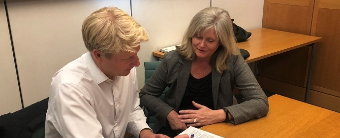 Anne Main meets with Transport Minister Jo Johnson in Westminster