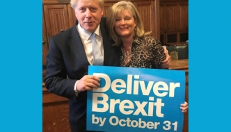 Anne Main MP and Boris Johnson