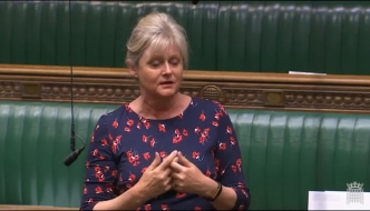 Anne Main pictured during her House of Commons debate on school funding 25th April 2019