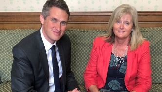 Anne Main MP with Education Secretary Rt Hon Gavin Williamson CBE MP