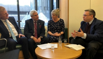 Anne Main MP meets with Oliver Dowden MP and local Conservatives to discuss local issues