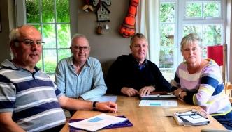 Anne Main with STAQS representatives Cavan McDonald, John Hale and Nigel Green