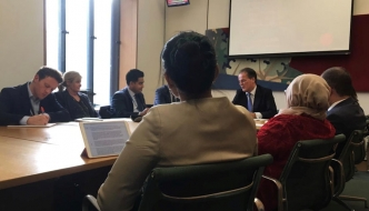 Anne Main chairs the Bangladesh APPG meeting with FCO Minister Mark Field MP