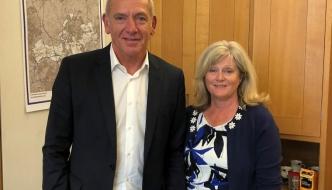 Anne Main MP with the new CEO of Govia Thameslink Rail (GTR) Patrick Verwer