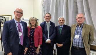Peter Crowder (STAQS), Anne Main MP, Paul Maynard MP, Claudio Duran (STAQS) and Nigel Green (STAQS)