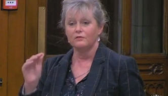 Anne Main speaking in Westminster Hall