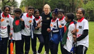 Anne Main hosts MPs v Street Children cricket match.