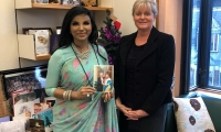Anne Main meets new Bangladesh High Commissioner, Saida Muna Tasneem.