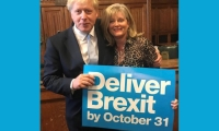 Anne Main MP and Boris Johnson
