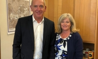 Anne Main MP with the new CEO of Govia Thameslink Rail (GTR) Patrick Verwer