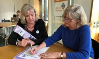 Anne pictured during her meeting with a WASPI women representative in Parliament.